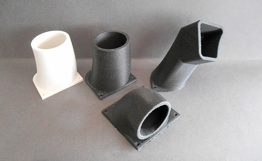 3D Printing Air Intake Motor Engine with Series Polymers production_st